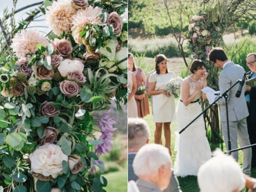 Copper And White Malibu Outdoor Wedding