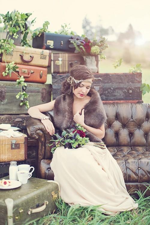 Cozy And Fresh Rustic Fall Wedding Shoot