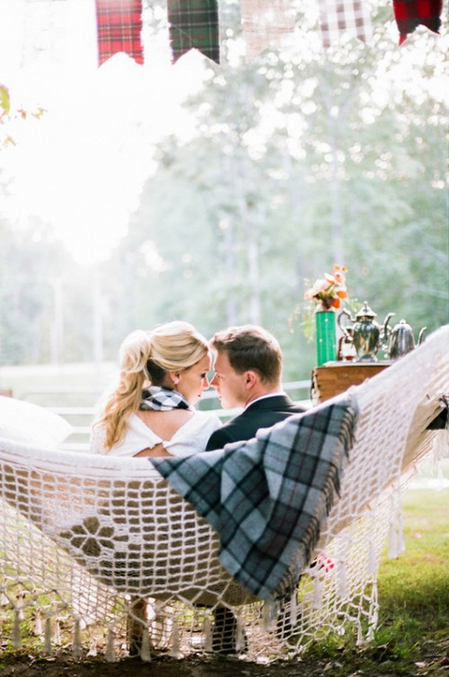 Cozy And Intimate Campfire Wedding Inspiration