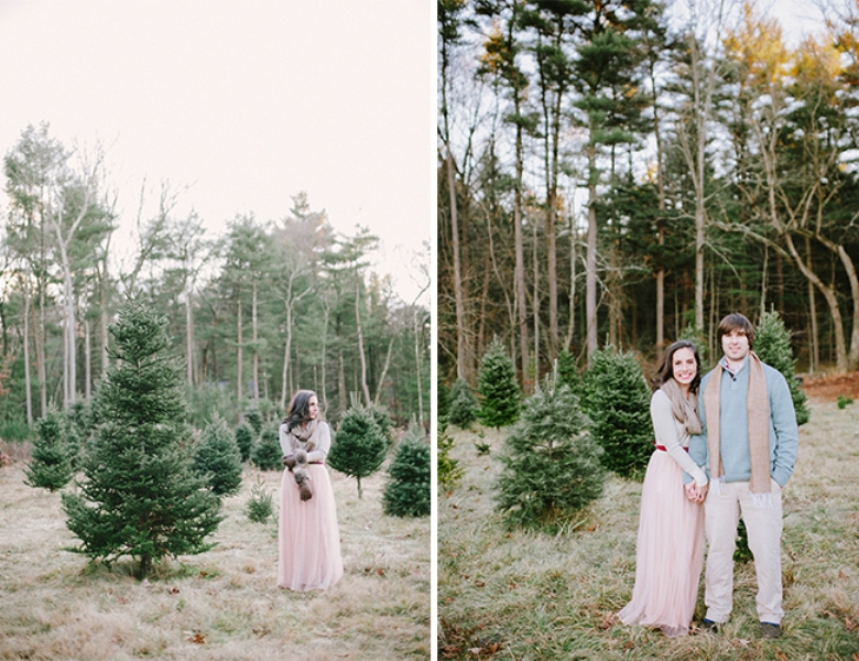 Picture Of cozy and intimate christmas tree farm love shoot  10