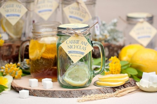 Cozy And Sweet DIY Mason Jar Tea Wedding Favors