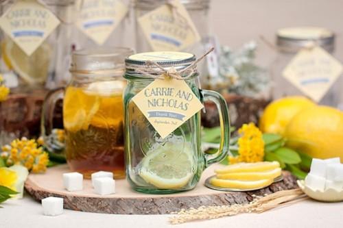 Cozy And Sweet DIY Mason Jar Tea Wedding Favors ...