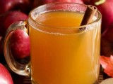 apple cider with cinnamon sticks is a perfect fall drink for a wedding or a bridal shower