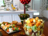 fresh fall veggies and fruits are perfect and healthy treats for a fall bridal shower
