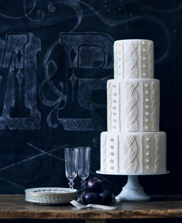Picture Of cozy knitted ideas for a winter wedding  2