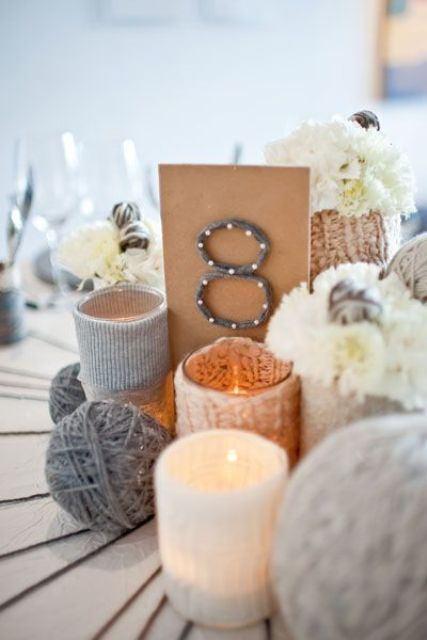 Cozy Knitted Ideas For A Winter Wedding