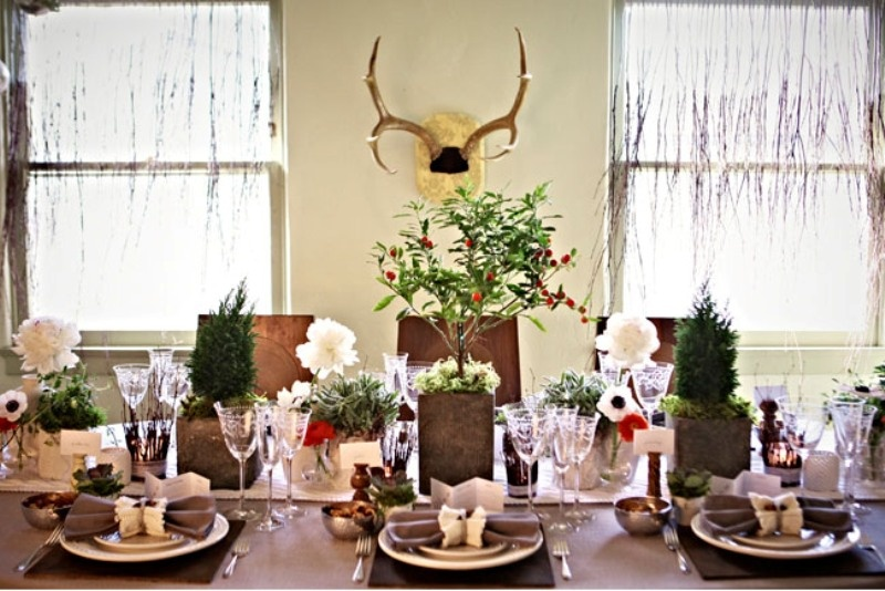 Cozy Table Setting For Your Winter Wedding - Weddingomania