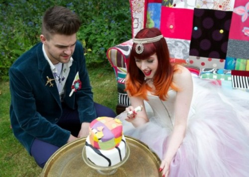 Crazy Colorful Partchwork Wedding Shoot