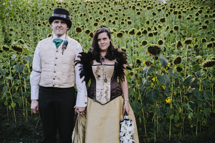 Crazy Steampunk Wedding At The Eden Project