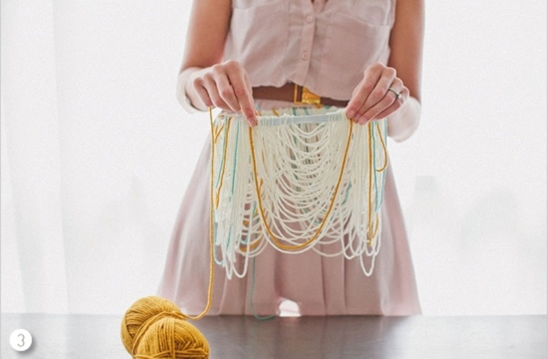 Creative And Cozy Diy Yarn Chandelier For Your Wedding