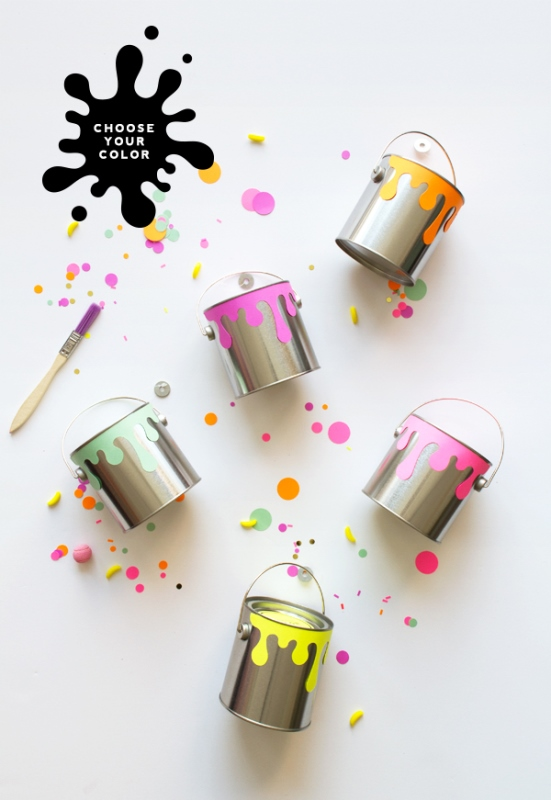 Picture Of creative and cute diy paint can guests favors  2