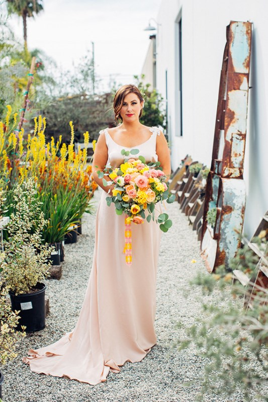Picture Of creative and vibrant citrus wedding inspiration  1