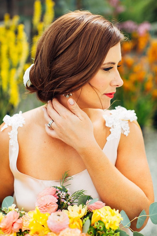Picture Of creative and vibrant citrus wedding inspiration  10
