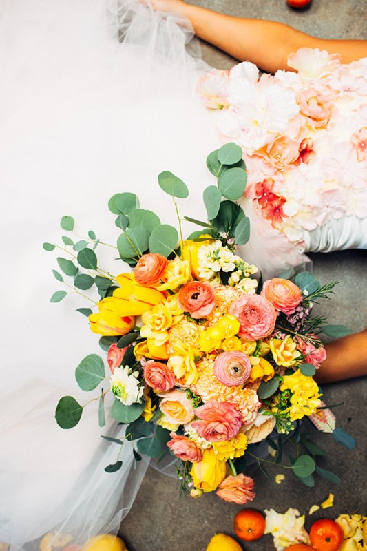 Picture Of creative and vibrant citrus wedding inspiration  11