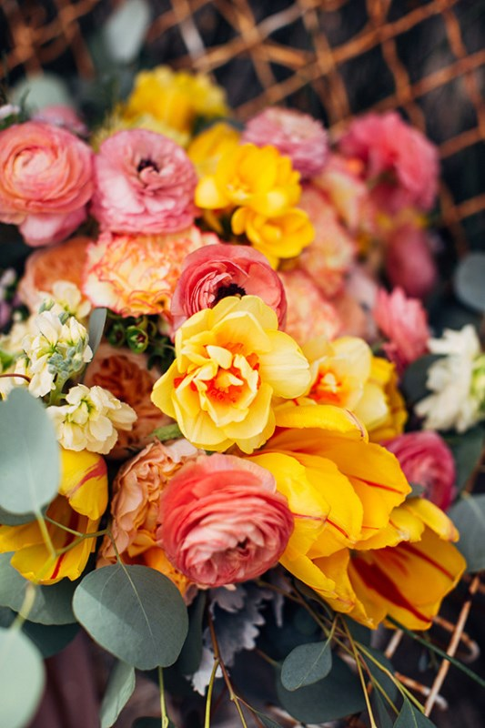 Picture Of creative and vibrant citrus wedding inspiration  2