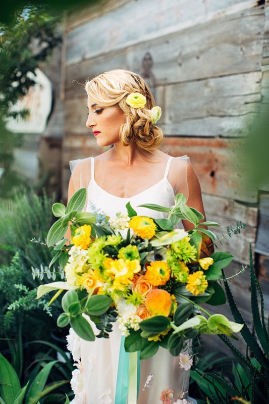 Picture Of creative and vibrant citrus wedding inspiration  3