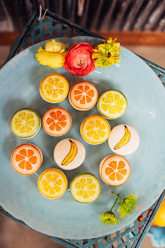 Picture Of creative and vibrant citrus wedding inspiration  4
