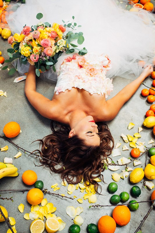 Picture Of creative and vibrant citrus wedding inspiration  5