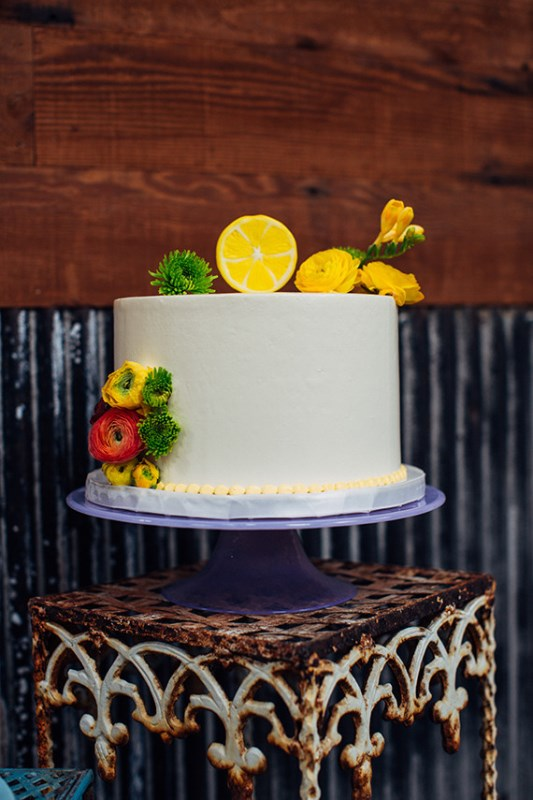 Picture Of creative and vibrant citrus wedding inspiration  6