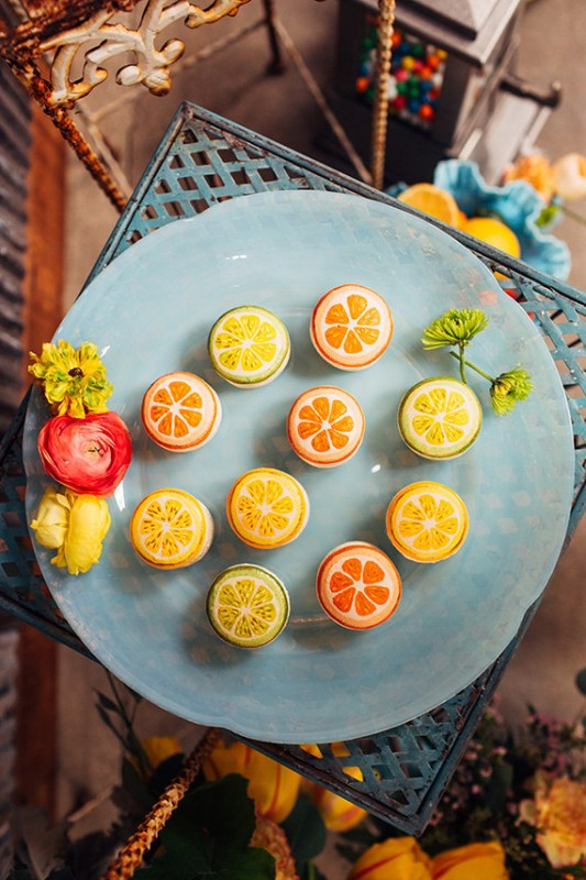 Picture Of creative and vibrant citrus wedding inspiration  9