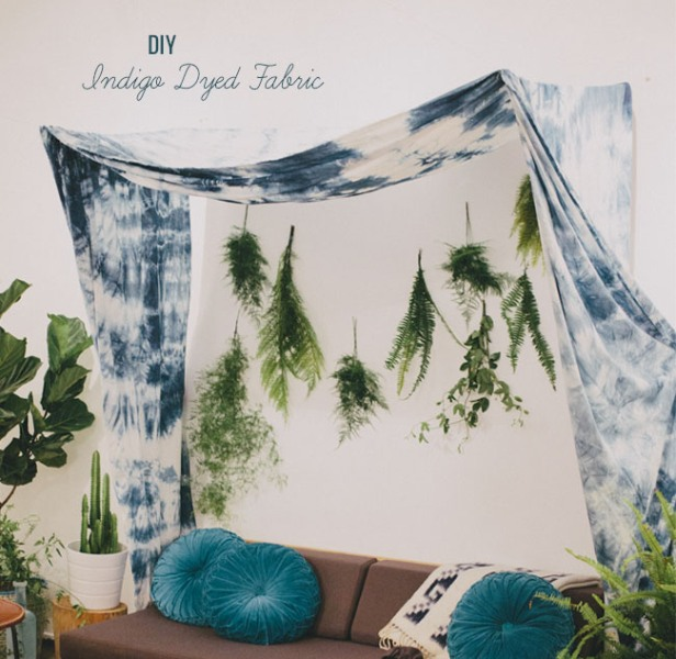 Picture Of Creative Diy Indigo Dyed Fabric As A Wedding Backdrop Or