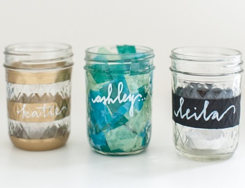 Creative DIY Mason Jar Place Cards