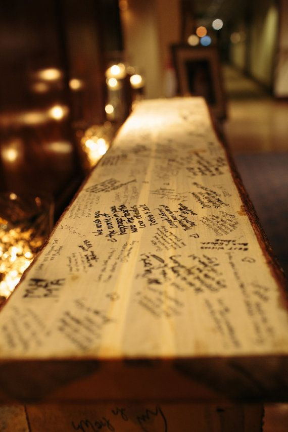 a live edge wooden slab is a timeless wedding idea for a rustic wedding in the fall or any other season