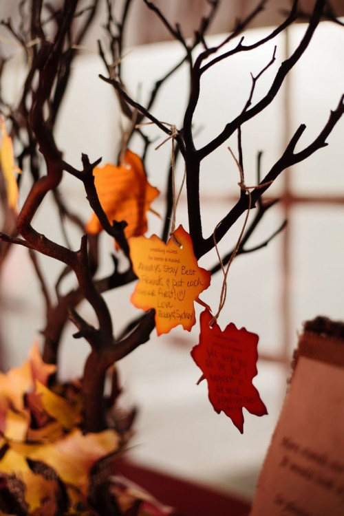 Creative Fall Wedding Guest Books