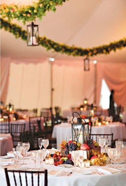 Picture of creative non floral wedding centerpieces