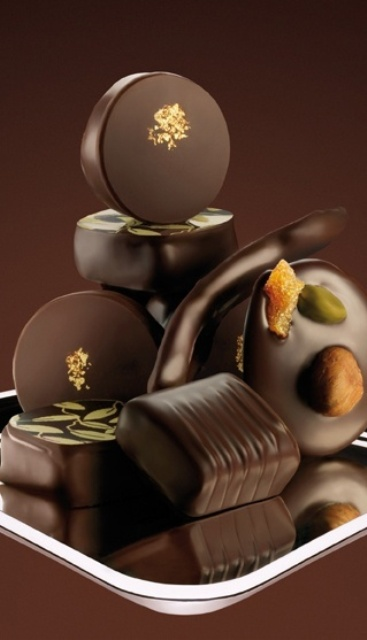 indulging dark chocolate with various nuts is always a good idea for both wedding desserts and favors, too
