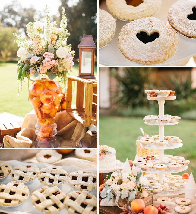 Rustic Wedding Food Ideas: Picture Of A Fall Wedding Fruit Pie Bar Is A Great Idea