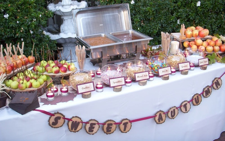 33 cute and cozy fall wedding food bars weddingomania cute and cozy fall wedding food bars junglespirit Image collections