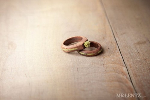 Cute And Eco-Friendly Wood Wedding Rings From Mr. Lentz Shop