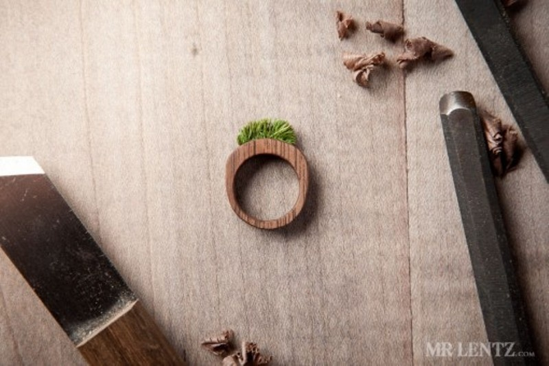 cute and eco friendly wood wedding rings from mr lentz shop - Cute Wedding Rings