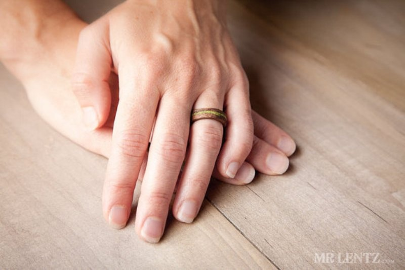 cute and eco friendly wood wedding rings from mr lentz shop - Eco Friendly Wedding Rings