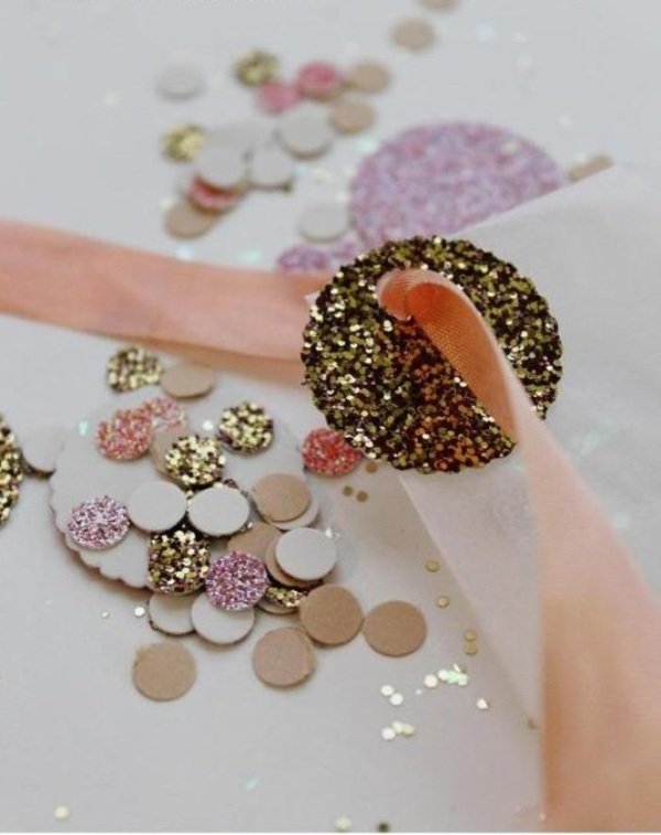 Picture Of Cute And Shiny Diy Wedding Favor Glitter Confetti Bags
