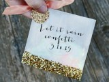 Cute And Shiny Diy Wedding Favor Glitter Confetti Bags