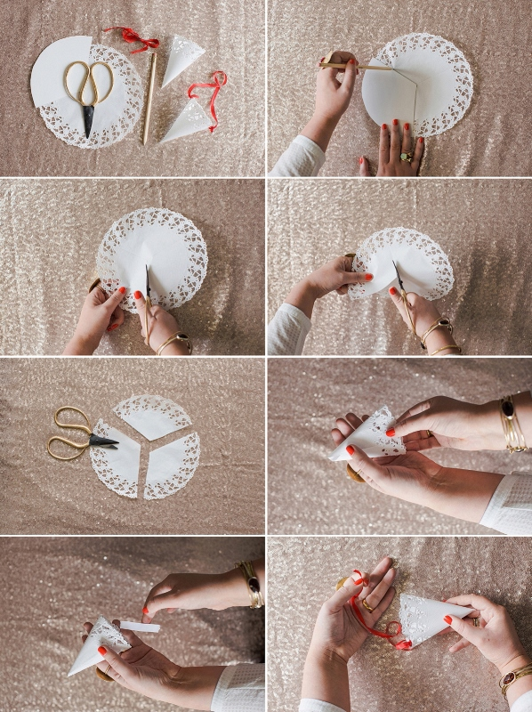 Picture Of cute diy confetti cones for your wedding  2