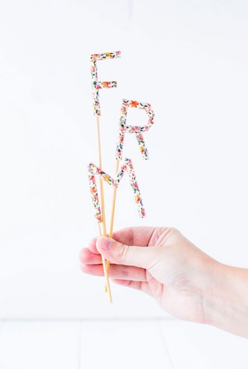 Cute Diy Message Cake Topper With Paper Straws