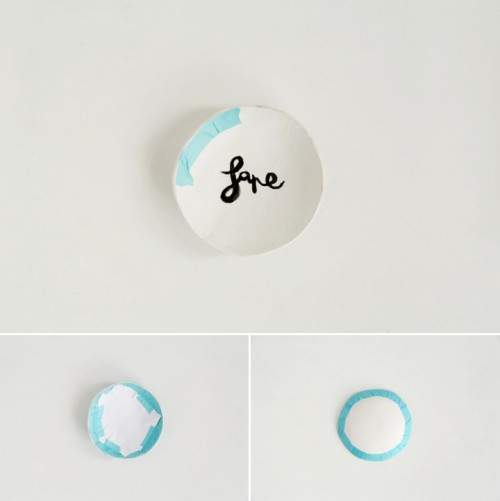 Cute DIY Ring Dish From Air Dry Clay