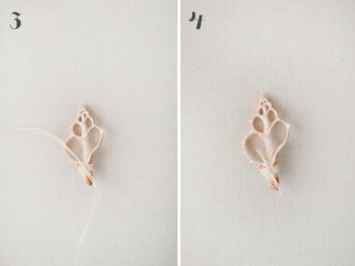 Cute Diy Seashell Boutonniere