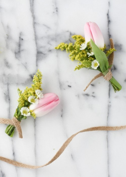 Cute Diy Tiny Bouquet For Bridesmaids Or Boutonniere For A Groom
