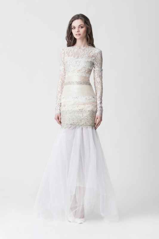 Picture Of daring yet feminine wedding dresses collection by makany marta  3