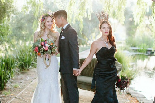 Darkness Vs Light: Maleficent Wedding Inspiration