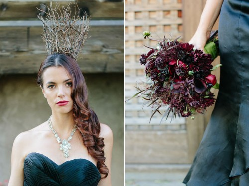Dark And Dramatic Maleficent Wedding Inspiration