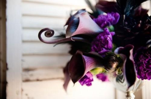 Dark Romance Halloween Wedding Bouquets