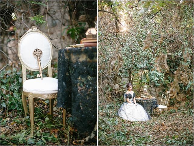 Dark Romance Wedding Photo Shoot