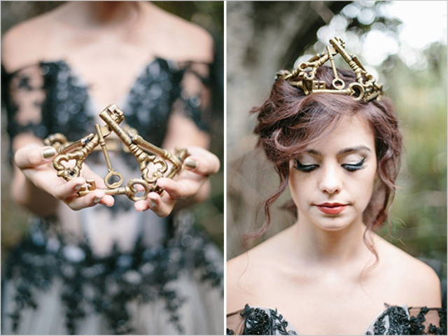 Dark Romance Wedding Photo Shoot