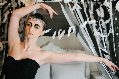 Darkand Dramatic Black Swan Bridal Shoot