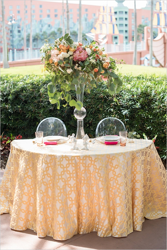 Picture Of darling disney themed wedding inspiration  7
